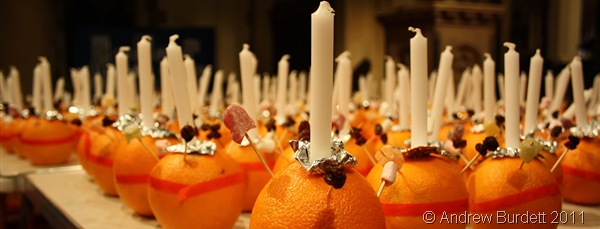 FRUITY SERVICE_Christingles ready for distribution tomorrow.