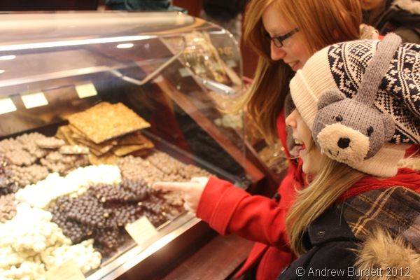 PHOTO OF THE WEEK: Two Furze Platt students debate which chocolate products to buy at Berlin store Fassbender & Rausch. (IMG_7772)