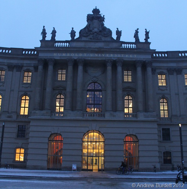 THE HUMBOLD UNIVERSITY: This university building is outside the square where the anti-Nazi books were burned. (IMG_7790)
