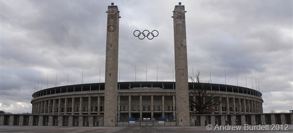 IMPRESSIVE SIGHT: The amazing facade of the 1936 Olympic Stadium. (IMG_7961)