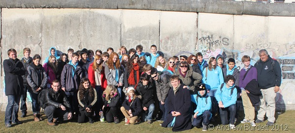 GROUP PHOTO: Taken by tour leader Chris from organiser NST, this is our party at the Berlin Wall. (IMG_8121)