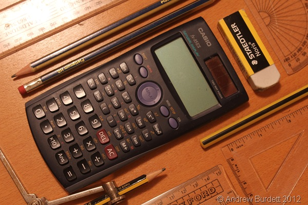 TOOLS FOR THE JOB: Today's exam was the calculator paper of the Edexcel linear GCSE Maths course. (IMG_8658)