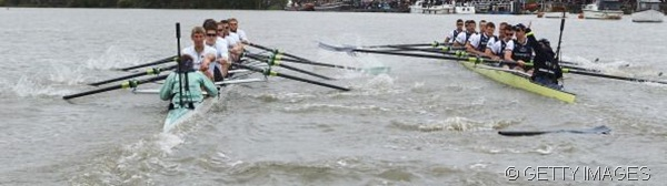 COULD DO WITHOUT: One of Oxford's oars broke in the clash, meaning Cambridge were certain to win.