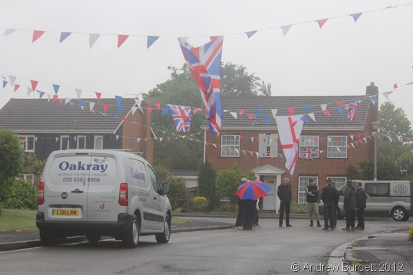PICKED THE RIGHT DAY FOR IT: The day began with miserable weather, which proved to be a backdrop for the coming celebrations. (IMG_3651)