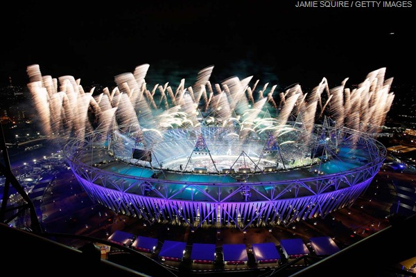 OFF WITH A BANG: The Opening Ceremony drew to a close in the early hours of this morning with incredible fireworks.