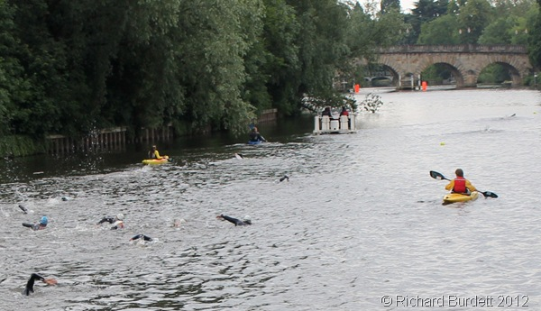 HEADING FOR THE BRIDGE: Swimmers approaching the Road Bridge. (IMG_6293_RMB tilt-corrected)
