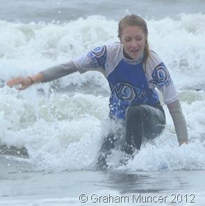 SURFER GIRL: Madi looked like a pro. (0635_20120808_DSC3428_GrahamMuncer)