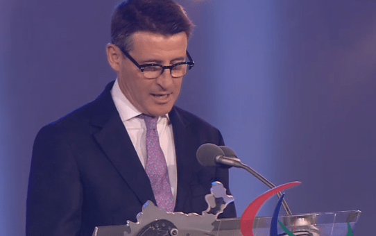 """SAY IT PROUD: Seb Coe said proudly that the Games of the XXX Olympiad and the Paralympics had been """"Made In Britain""""."""
