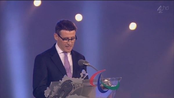 ROUSING SPEECH: Seb Coe delivered a closing speech that delighted the 80,000-strong crowd in the Stadium.