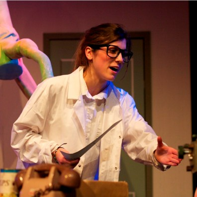 WATER THE PLANTS: A cast member in Little Shop of Horrors. (IMG_3929_AlexMeade)