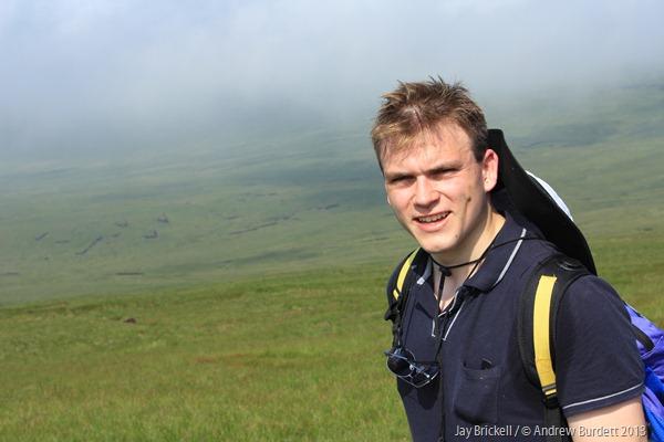 TROOPER: Andrew Burdett approaching the summit of Ingleborough (Peak Number 1). (IMG_6978)