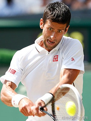 MONSTER: The incredible Novak Djocovic.