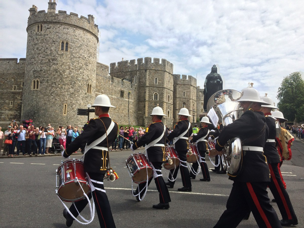 The near-daily Changing the Guard, outside Windsor Castle.