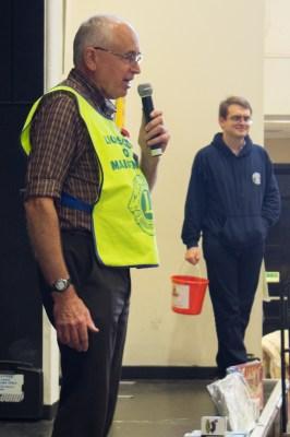 A Lions Club of Maidenhead volunteer introduced Richard Kellaway, RBWM Mayor.