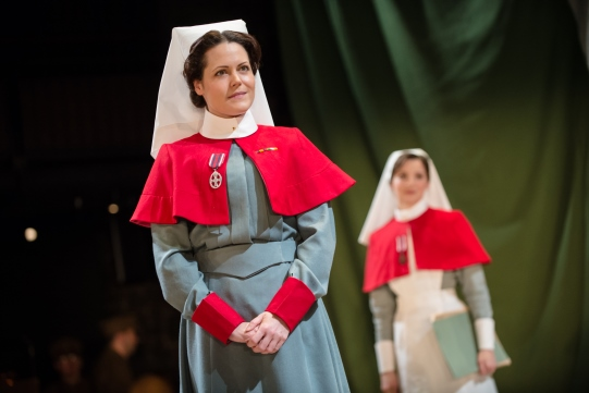 Leah Whitaker as Matron in 'The Christmas Truce'.