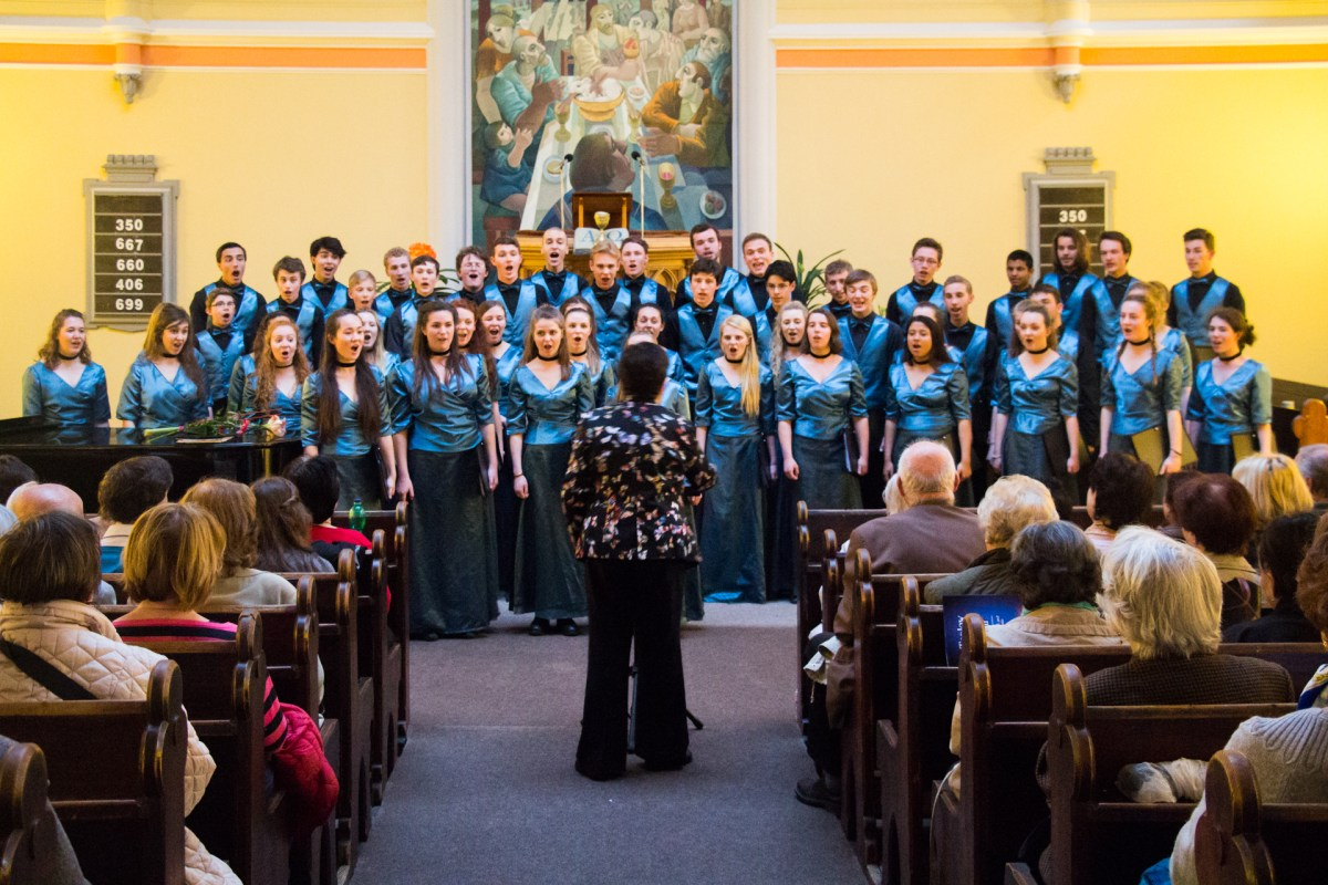 Taplow Youth Choir in concert at the Korunni Chapel in Prague, the last stop on their week-long tour of the Czech Republic.
