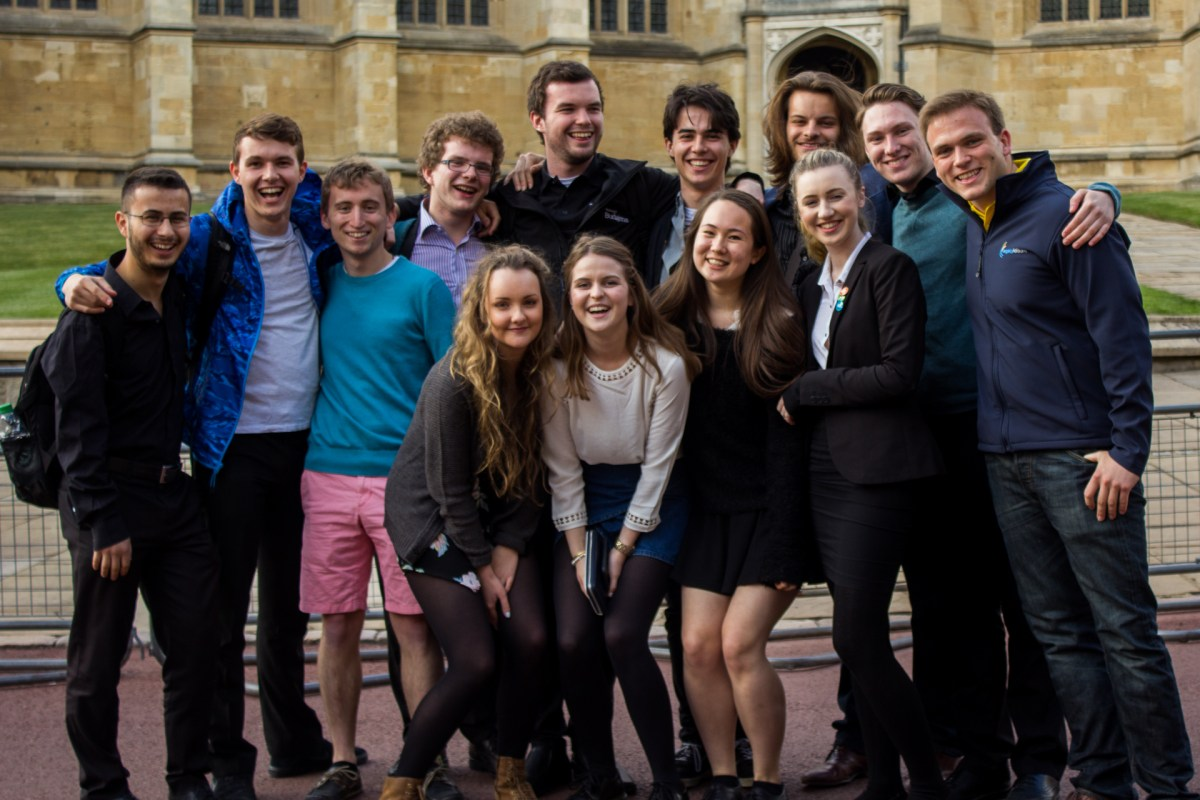 The 'Duo Crewo': some of Taplow Youth Choir's leavers, whose notorious late-night antics at Hotel Duo developed a strong sense of friendship.