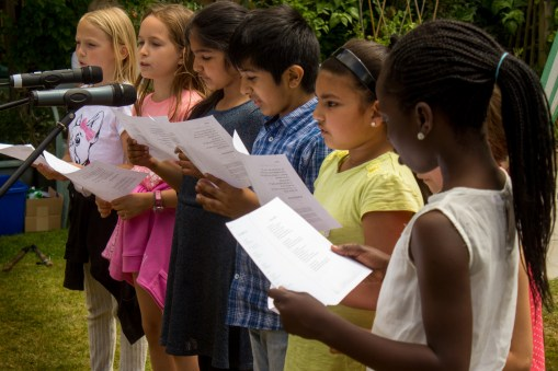 Singers from St Luke's School sang at the event.