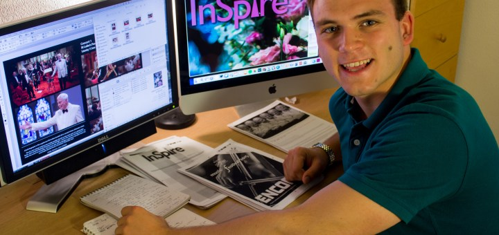 Andrew Burdett putting the finishing touches to his thirteenth (and final) edition of InSpire magazine.