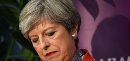 Theresa May looked weak and devastated at the Maidenhead parliamentary election count.