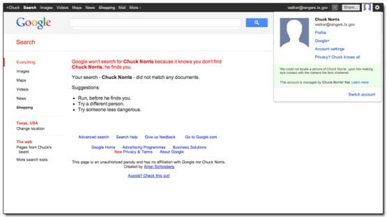 Chuck Norris Google Plus