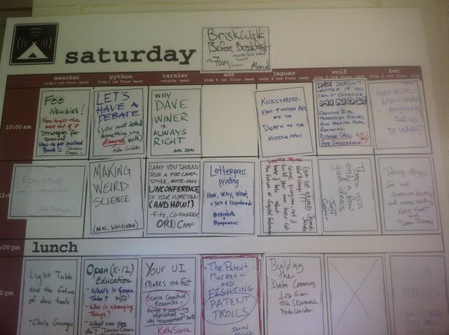 FOO Camp 2012 sessions