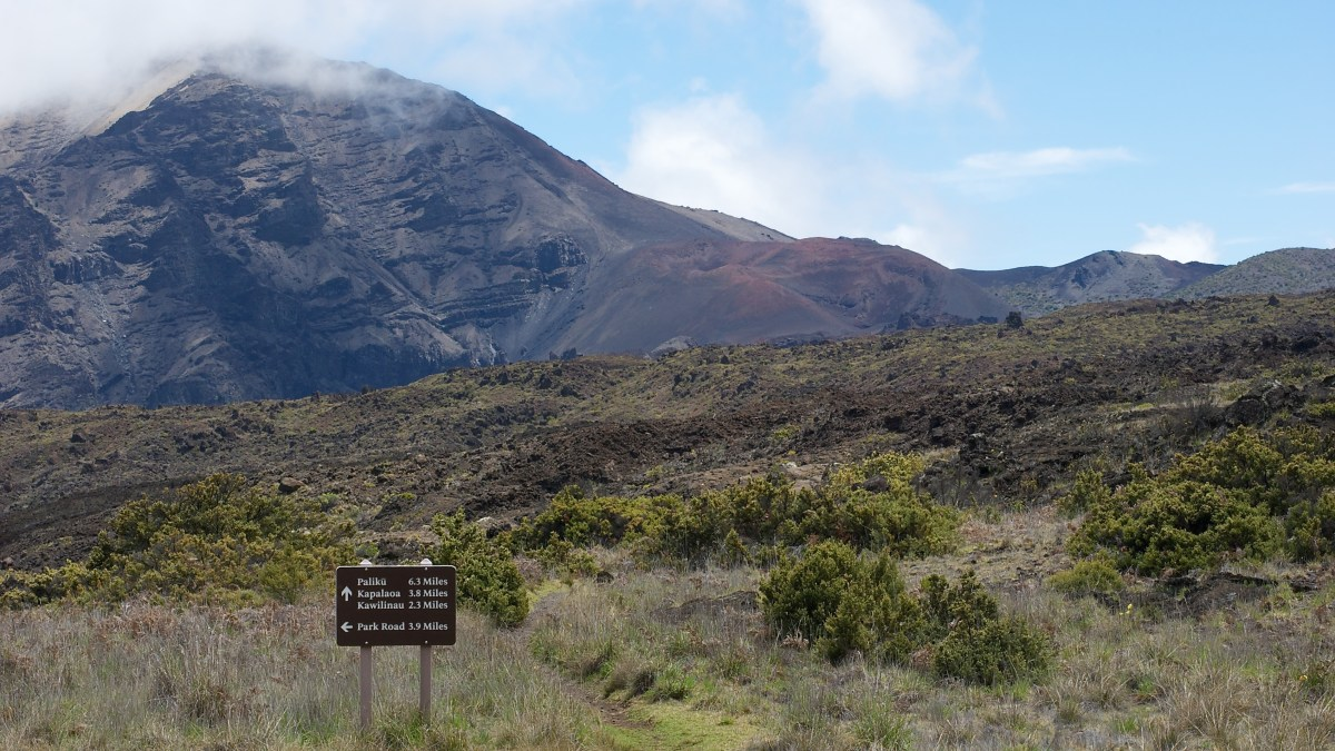 Within Haleakala's crater