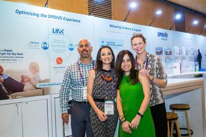 Image of exhibitor staff at CNSA Annual Congress trade exhibition