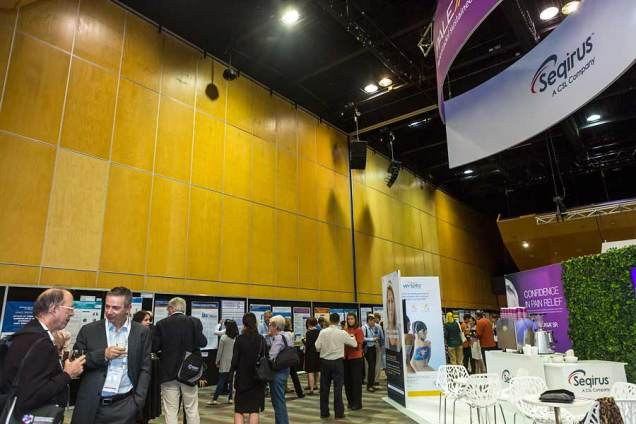 Image of delegates at trade exhibit for ANZSGM 2016