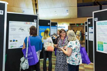 Image of delegates at CNSA Annual Congress trade exhibition