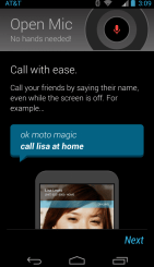 Moto X screen voice