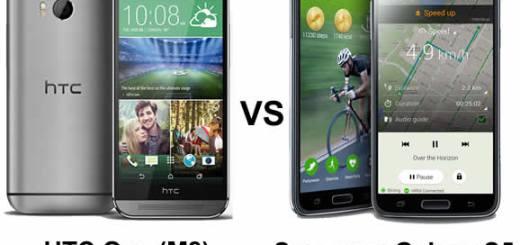 HTC One M8 versus Galaxy S5