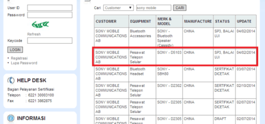 Sony Xperia G D5103 Revealed on Indonesia's POSTEL Site