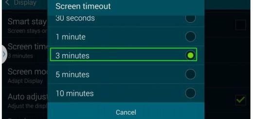 Increase Screen Timeout on Galaxy S51