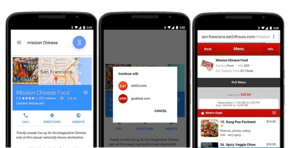 Learn to Order Food from Google Search on Android