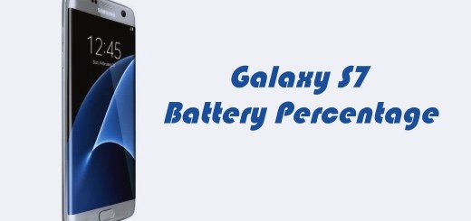 How to Show Galaxy S7 Battery Percentage