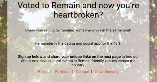 Bild: Remainder-Webseite