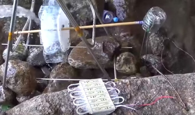 Wasserkraftwerk zum Selberbasteln (Screenshot YouTube-Video)