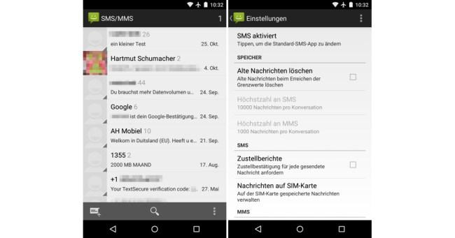 SMS-App Sicherheit 02