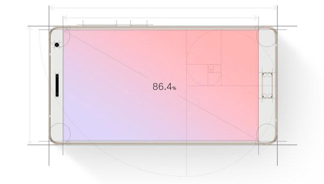 Fast 87% der Vorderfläche wird vom Display eingenommen. Wir nehmen also ein Display zur Hand, um damit zu telefonieren (Foto: Lenovo)
