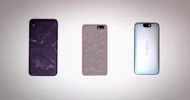 So könnte ein kommendes HTC Vive-Smartphone (rechts) aussehen. (Screenshot: AndroidHeadlines)