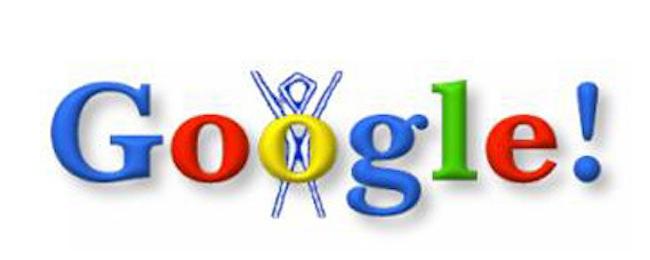 So sah das erste Google Doodle im Sommer 1998 aus. (Bild: Google)
