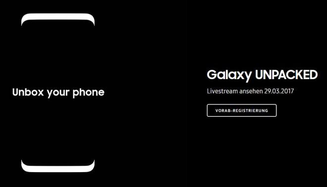 Vormerken: den 29. März (Quelle: Samsung)