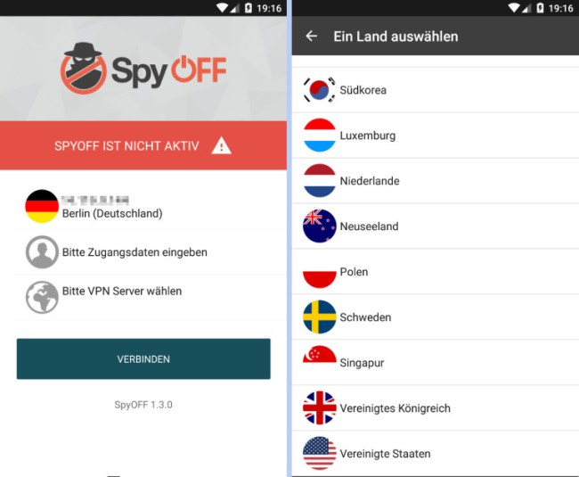 """VPN-Apps wie """"SpyOFF"""" schützen dich beim Online-Shoppen über öffentliche WLANs."""