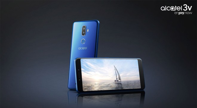 "Das Alcatel 3V in ""Spectrum Blue"". Quelle: Alcatel"