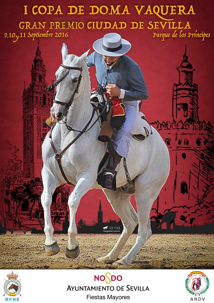 Cartel Gran Premio de Doma Vaquera Ciudad de Sevilla