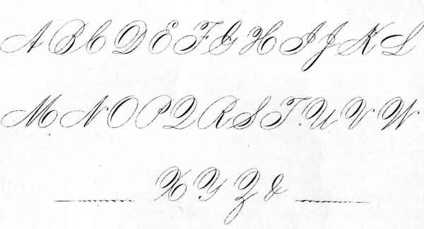 An Example of Spencerian Ladies' Hand