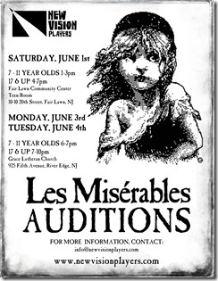 Les Miserables Auditions poster