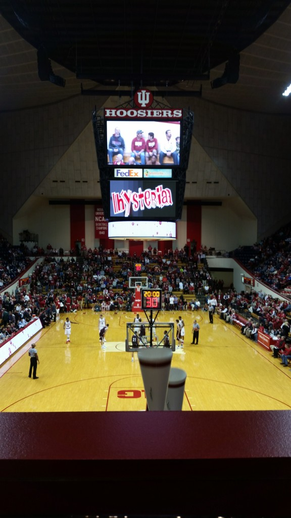 My office view for Monday night's Bellarmine-IU exhibition game.