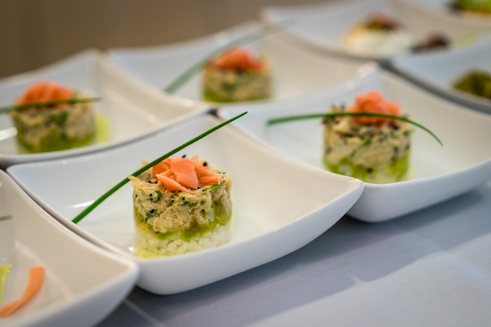 Sneak peek at the new catering from american airlines for American cuisine appetizers